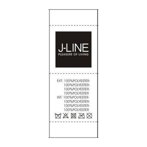 Černý polštář s peřím J-Line