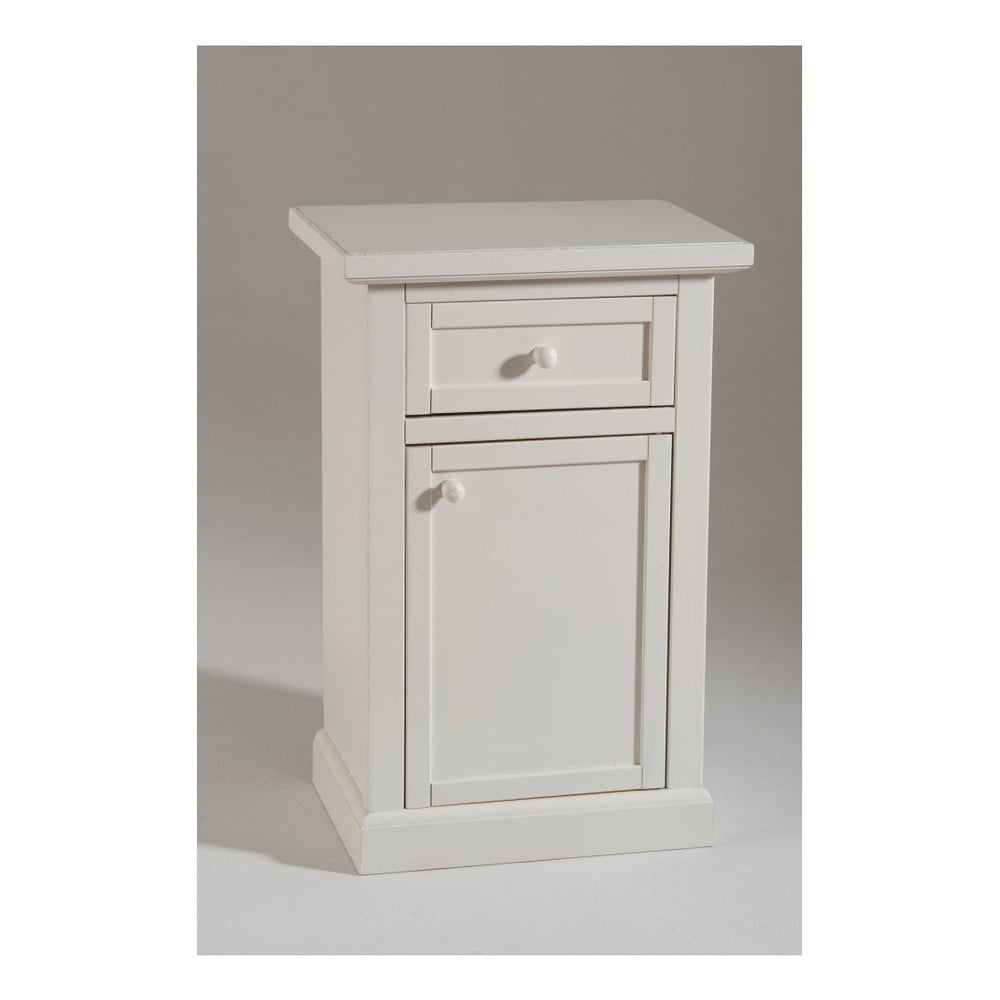 Bílá dřevěná skříňka Castagnetti Older