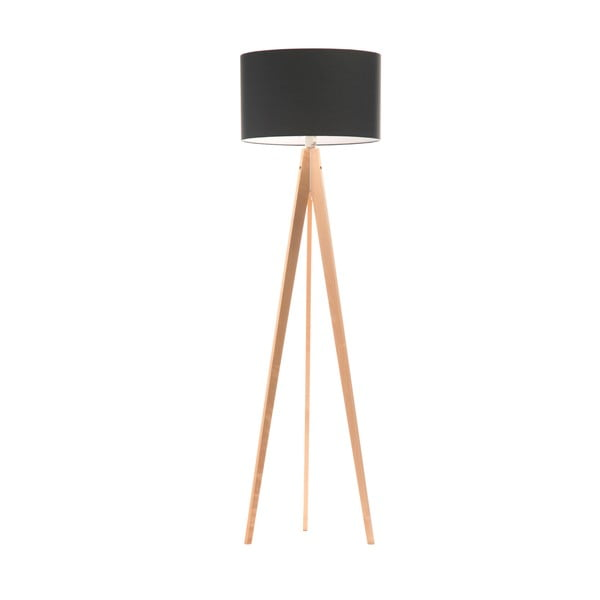 Stojací lampa Artist Poly Grey/Birch, 150x42 cm