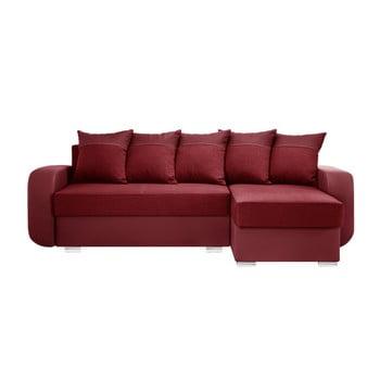 Canapea cu șezlong partea dreaptă Interieur De Famille Paris Destin roșu