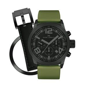 Unisex hodinky Marc Coblen s páskem a kroužkem navíc P65