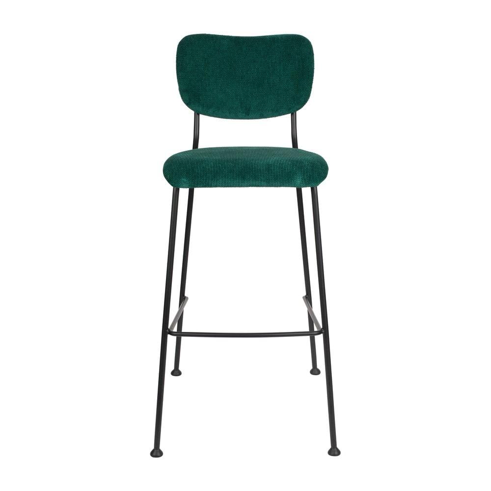 Tmavě zelená barová židle Zuiver Benson, výšky 102,2 cm