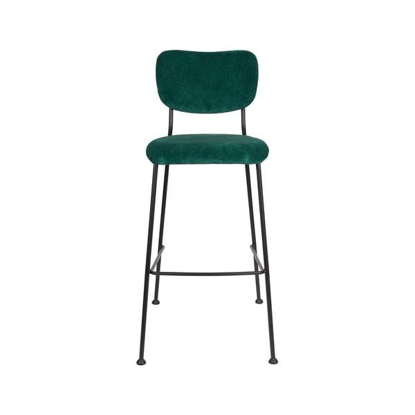Sada 2 tmavě zelených barových židlí Zuiver Benson, výška 102,2 cm