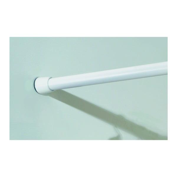 Bílá tyč na sprchový závěs s nastavitelnou délkou InterDesign, délka198 - 275 cm