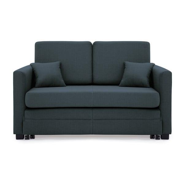 Granatowa 2-osobowa sofa rozkładana Vivonita Brent