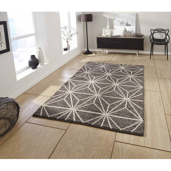 Hnědý ručně tkaný koberec Think Rugs Alpha Brown, 120x170cm