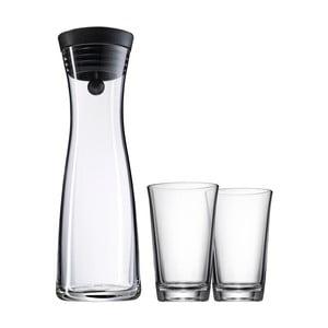 Sada skleněné karafy a 2 sklenic WMF Basic