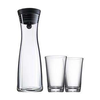 Set carafe din sticlă și 2 pahare WMF Basic de la WMF
