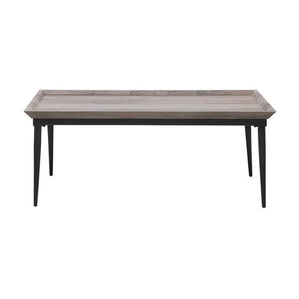 Konferenční stolek v dekoru šedého dřeva Monobeli Tristan, 60x110cm
