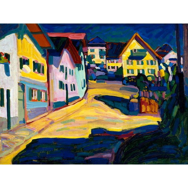Reproducere tablou Vasilij Kandinskij - Castle Grave Street, 80 x 60 cm