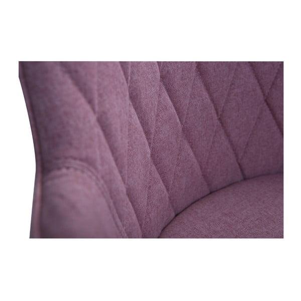 Růžová jídelní židle s područkami DAN–FORM Rombo