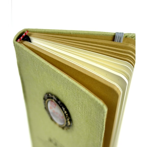 Retro zápisník Paris, světle zelený