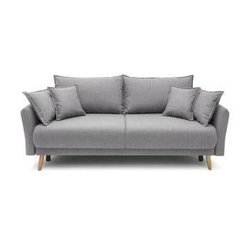 Canapea extensibilă Bobochic Paris Mia, gri deschis imagine