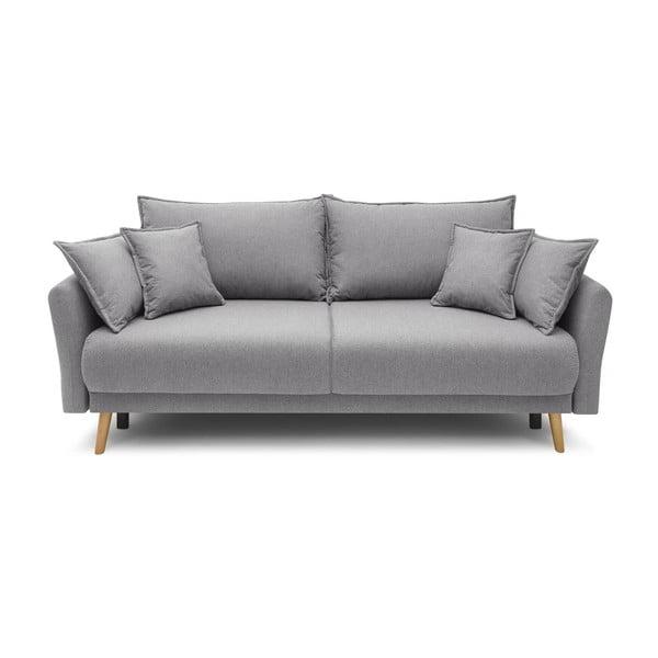 Jasnoszara rozkładana sofa Bobochic Paris Mia