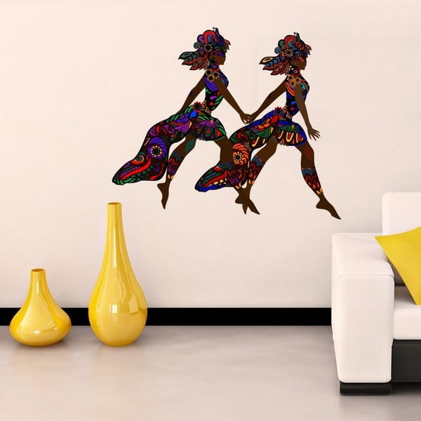 Dekorativní nálepka na stěnu Samba