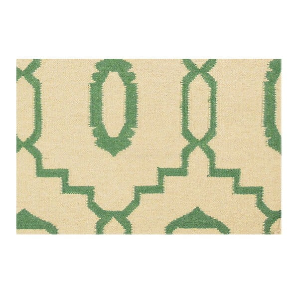 Ručně tkaný koberec Kilim JP 11031 Green, 90x150 cm