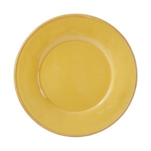 Žlutý kameninový talíř Côté Table Const, ⌀28,5 cm