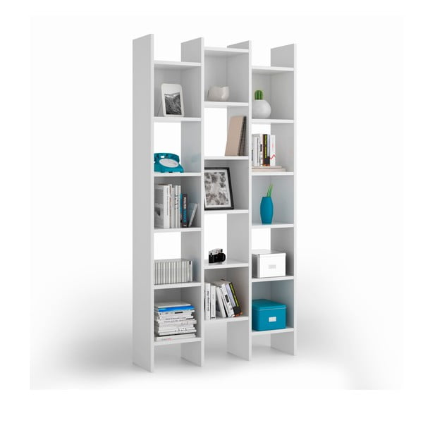 Bibliotecă Evergreen House Una, alb
