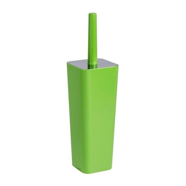 Zelený toaletní kartáč s uzávěrem Wenko Candy