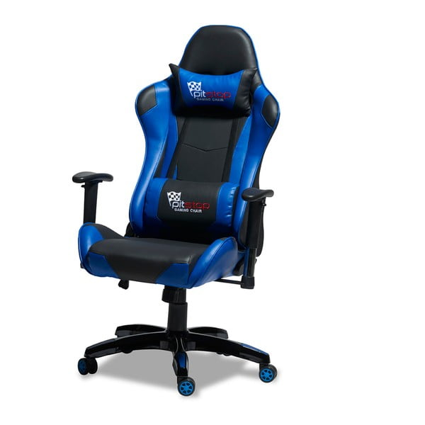 Czarno-niebieskie krzesło biurowe Knuds Gaming