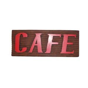 Plechová cedule Antic Line Cafe, délka 76cm