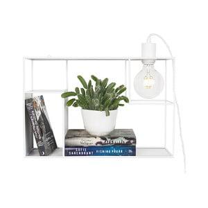 Bílé stolní/nástěnné svítidlo GlobenLighting Shelfie