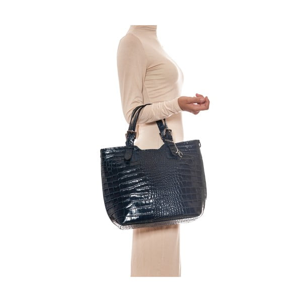 Kožená kabelka Renata Corsi 635 Blu