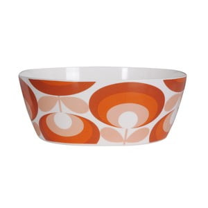 Bol Orla Kiely Flower Salad Bowl, portocaliu - alb