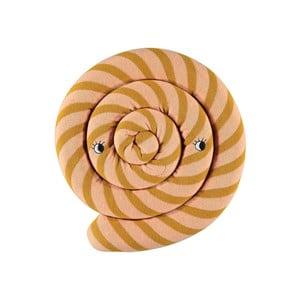 Oranžový dětský polštář z organické bavlny OYOY Lollipop, ⌀ 30 cm