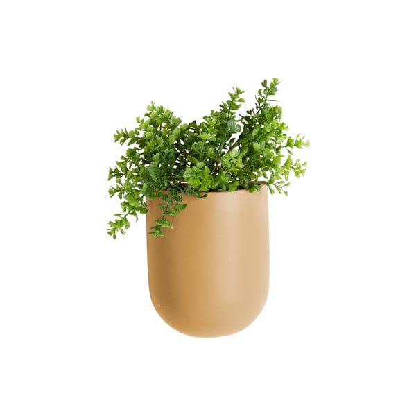 Pieskovohnedý nástenný kvetináč PT LIVING Oval