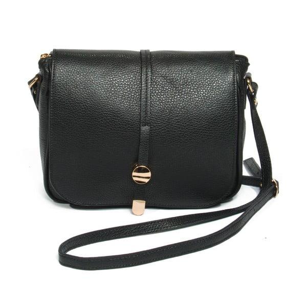 Černá kožená kabelka Renata Corsi Ela