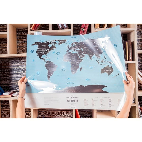 Stírací stříbrná mapa světa Travel Map