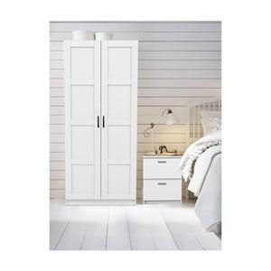 Bílá šatní skříň Domino