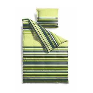 Prodloužené povlečení Lime Stripes, 140x220 cm