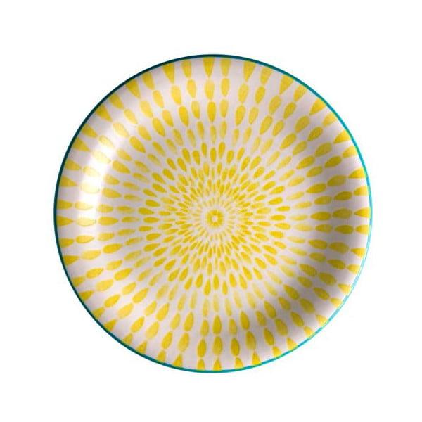 Żółty talerz z dolomitu Brandani Ginger, ⌀ 19,5 cm