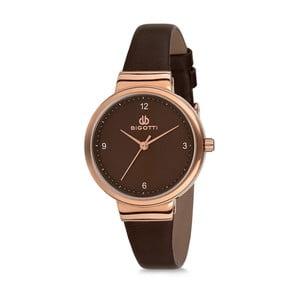 Dámské hodinky s černým koženým řemínkem Bigotti Milano Anette
