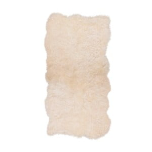 Covor din blană cu fir scurt Darte, 170 x 110 cm, alb