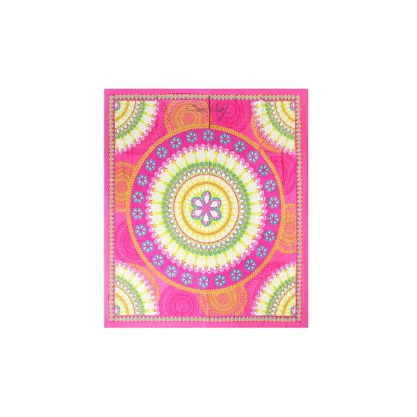 Růžová plážová deka Sun & Surf Mandala Marga