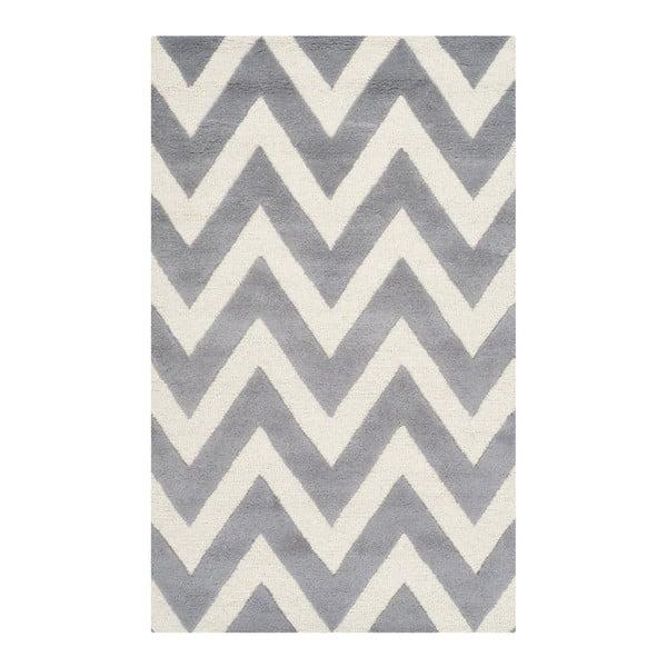 Vlněný koberec Stella Grey, 91x152 cm
