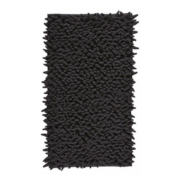 Černá koupelnová předložka Aquanova Ziza Black, 60x100cm