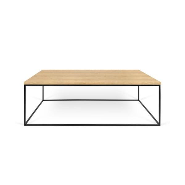 Konferenční stolek s černými nohami TemaHome Gleam, 120 cm