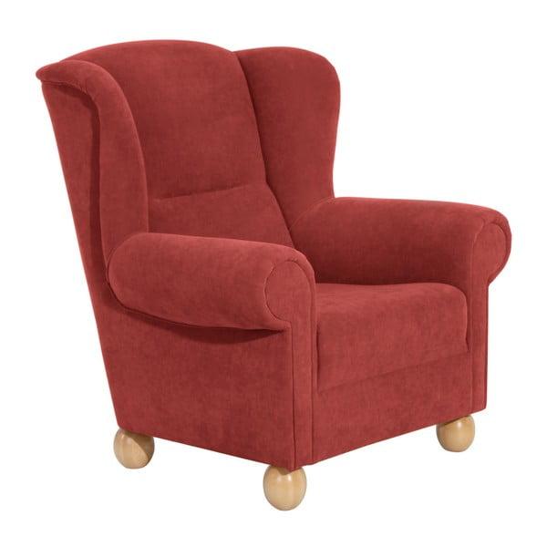Monarch Velor terrakotta piros füles fotel - Max Winzer