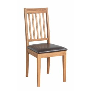 Sada 2 přírodních židlí z dubového dřeva  Folke Ella