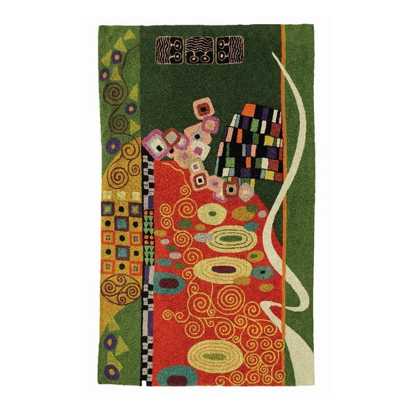 Koberec Klimt Brown/Green, 180x120 cm
