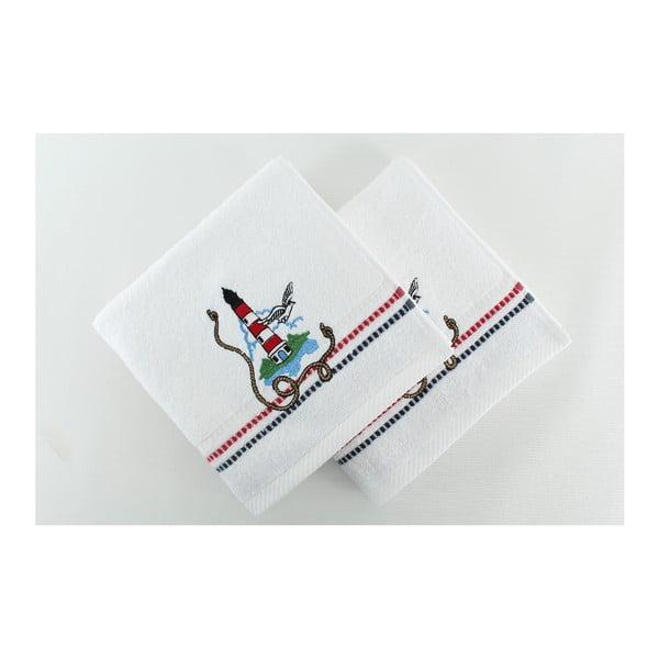 Sada 2 ručníků  Marina White Denis, 50x90 cm