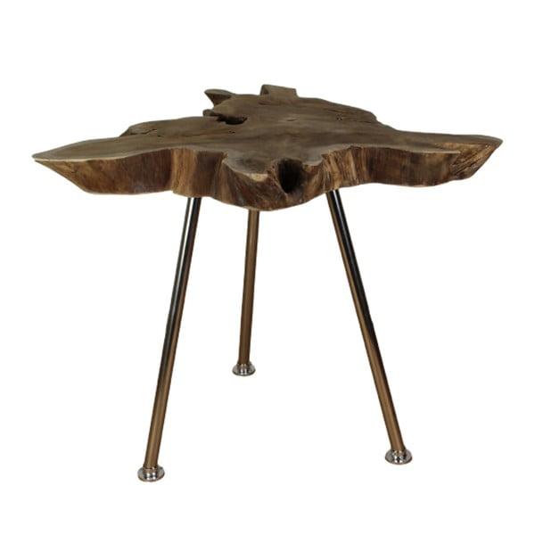 Tribe tárolóasztal teakfa asztallappal, ⌀ 50 cm - HSM collection