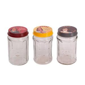 Sada 3 skleniček Glass Jar