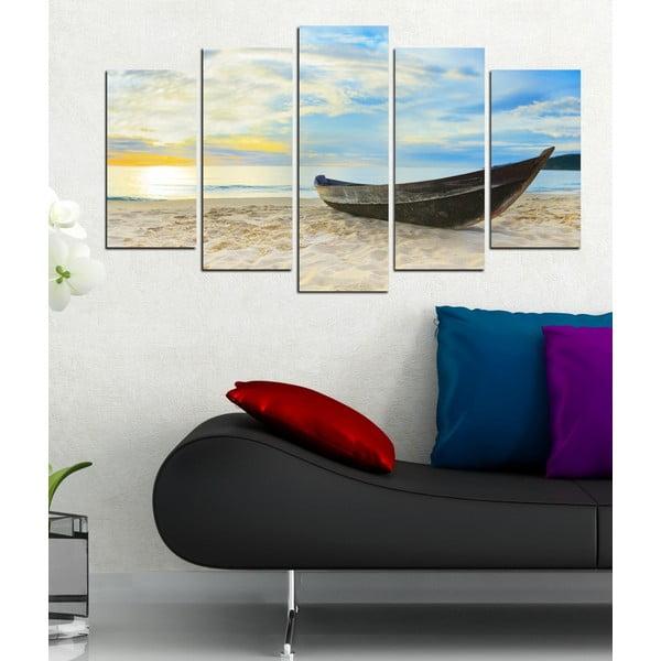 5dílný obraz Na pláži