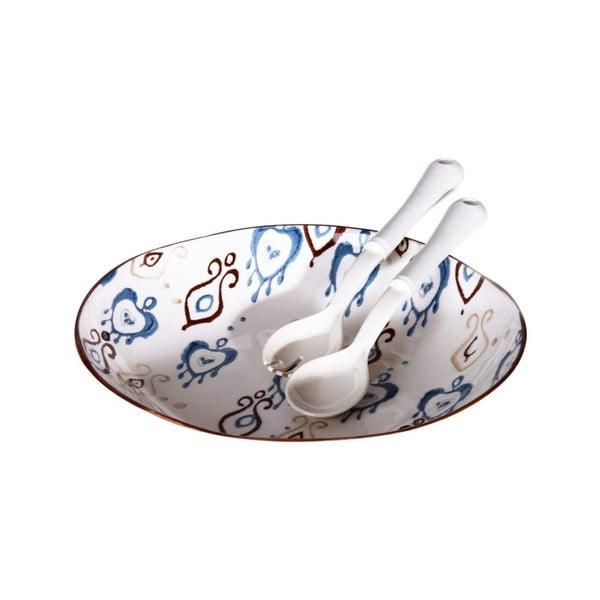 Set keramické misky na salát a 2 lžiček Sifi