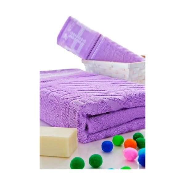 Set ručníků 50x100 a 150x80 cm, lila